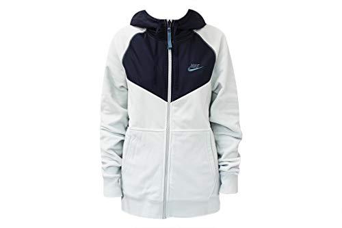 Nike Herren Sportswear Weste, Helles Silber/Obsidian/Himmlisch aquamarin, L