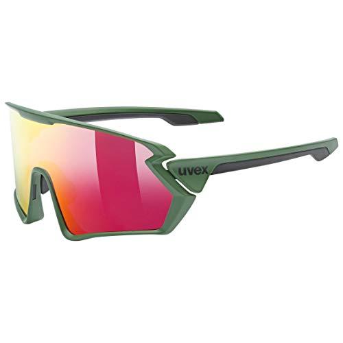 uvex Unisex– Erwachsene, sportstyle 231 Sportbrille, forest mat/mirror red, one size