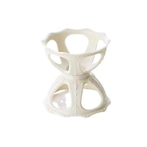 N-B Caja de Almacenamiento de Huevos de Maquillaje Desmontable de Escritorio con Soporte de Soplo Hueco Simple