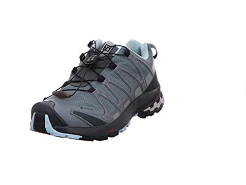 Salomon XA Pro 3D V8 Gore-Tex (impermeable) Mujer Zapatos de trail running, Verde (Balsam Green/Green Gables/Pastel Turquoise), 44 EU