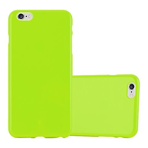 Preisvergleich Produktbild Cadorabo Hülle für Apple iPhone 6 Plus / iPhone 6S Plus in Jelly GRÜN Handyhülle aus flexiblem TPU Silikon Silikonhülle Schutzhülle Ultra Slim Soft Back Cover Case Bumper