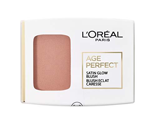 L'Oréal Paris Age Perfect Satin seidiges Puder-Rouge in Nr. 106 braun/amber, für eine natürliche Frische im Gesicht, 5 g