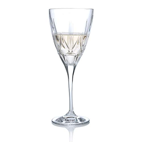 RCR 26231020006 Chic Luxion Crystal White Wine Glasses, 280 ml, Set of 6, Cristal