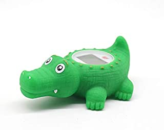 Baby Bathtub Thermometer, Infant Baby Bath Floating Alligator Temperature Thermometer with Temperature Safety Indicator (A...