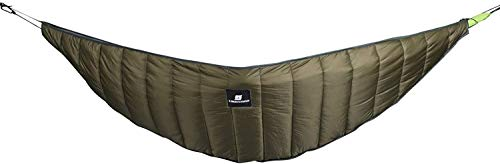 ZHENAO Camping Hammock Portable Thicken Hammock Underquilt,Keep Warm Weatherproof Cotton Cover,for Autumn Winter Outdoor Activities Survival Trips,Military Green Lazy Chair/Milita