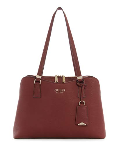 GUESS womens Satchel, Satchel Shoulder Bag, Claret, One Size US