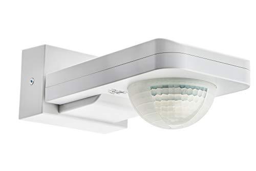 HUBER Motion 6 Infrarot Bewegungsmelder 360° mit 3 Sensoren und Matrixlinsen - Bewegungssensor IP65, 230V I inkl. Unterkriechschutz & Bereichsbegrenzung, Wand-/Deckenmontage, weiß