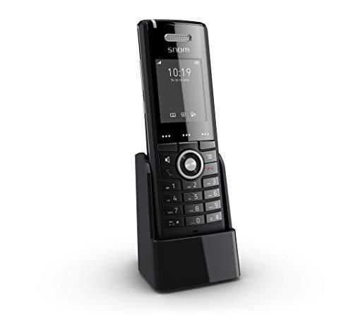 Snom M65 Professional DECT-Mobilteil (250 Stunden Standby, 2 Zoll 176 x 220 Pixel TFT, SW OTA-Upgrade, Vibrationsalarm, Gürtelclip, beleuchtete Tastatur), Schwarz, 00003969
