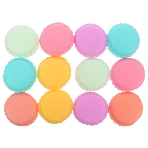 STOBOK 12 cajas de joyería macaron de resina colorida Macaron caso lindo pastillero contenedor organizador de joyas para pendientes, anillos, pastillas, tabletas de colores mezclados