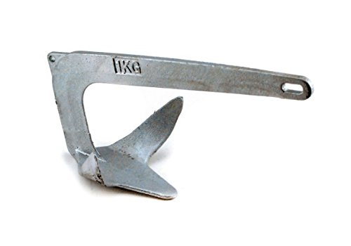 Yak Gear ABB, Bruce Style Plow Anchor, Galvanized Steel, 2.2 pounds