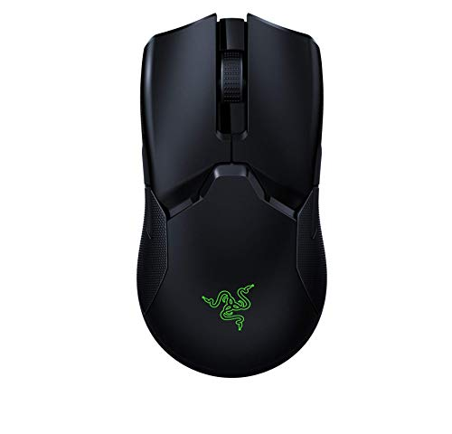 Razer Viper Ultimate Lightest Wireless Gaming Mouse: Fastest Gaming Switches - 20K DPI Optical Sensor - Chroma Lighting - 8 Programmable Buttons - 70 Hr Battery - Classic Black (Renewed)