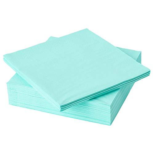 IKEA FANTASTISK - Servilletas de papel (3 capas, 40 x 40 cm), color turquesa claro