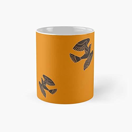 Taza clásica de estilo clásico de la alfarería griega de pájaros | Mejor regalo divertido tazas de café 11 oz