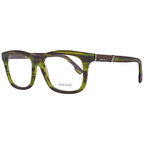 Diesel Dl5077 095-54-16-145 Montature, Verde (Grün), 54 Unisex-Adulto
