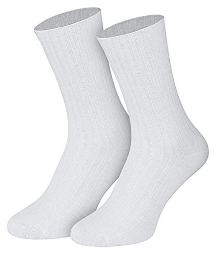 5 Paar Socken weiss 100% Baumwolle 43-46