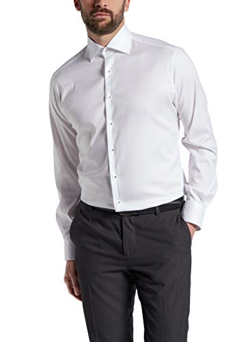 eterna Langarm Hemd Modern Fit Stretch unifarben
