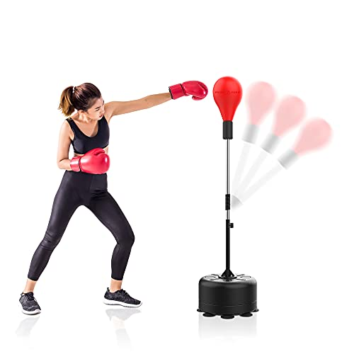 Cobra Reflex Bag, Freestanding Punching Bags for Boxing, MMA Training, Home Gym Workout Equipment, Punching Bag with Stand for Adults and Youth, Stress Relief