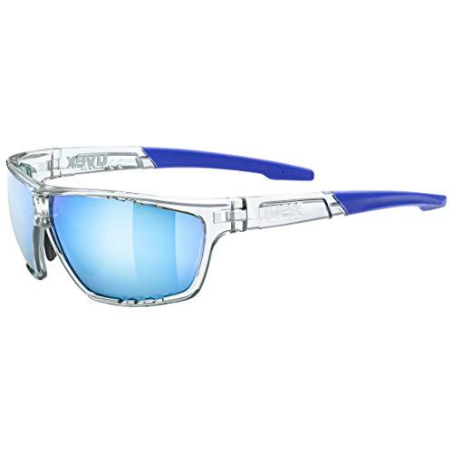 uvex Unisex– Erwachsene, sportstyle 706 Sportbrille, clear/mirror blue, one size