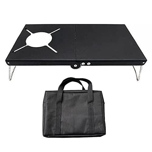 Jiaermei - Mesa plegable de metal para la playa, para cocina, cortavientos, con bolsa de almacenamiento