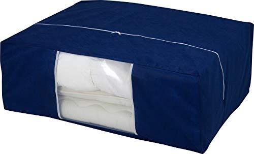 『アストロ 収納ケース 布団一式用(掛け・敷き布団各1枚) ネイビー 羽毛布団 収納袋 不織布 177-06』の2枚目の画像