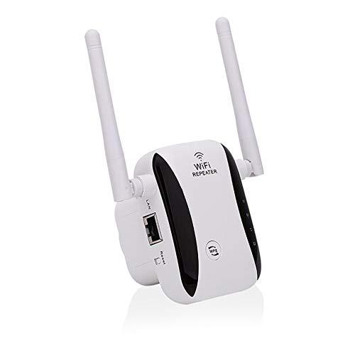 Haihui Ripetitore WiFi adattatore WiFi 300 Mbps 2.4 GHz, ripetitore/modalità AP, Plug & Play, facile configurazione e copertura con tutti i dispositivi Wi-Fi