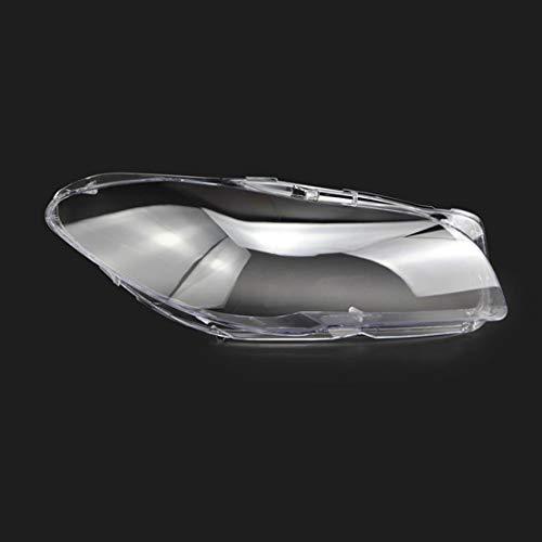 Qgg Paar Klar Scheinwerferblenden Objektiv Fit for BMW 5er F10 F11 F18 520 525 535 2010-2016, Scheinwerfer Objektivabdeckung Shell Scheinwerferabdeckung