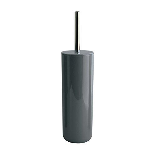 MSV 143941 Inagua- Set Scopino WC con contenitore igienico, Grigio scuro