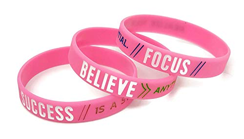 Success Focus Believe Set Di Braccialetti Motivazionali In Silicone Regalo Per Lui Per Lei 2020