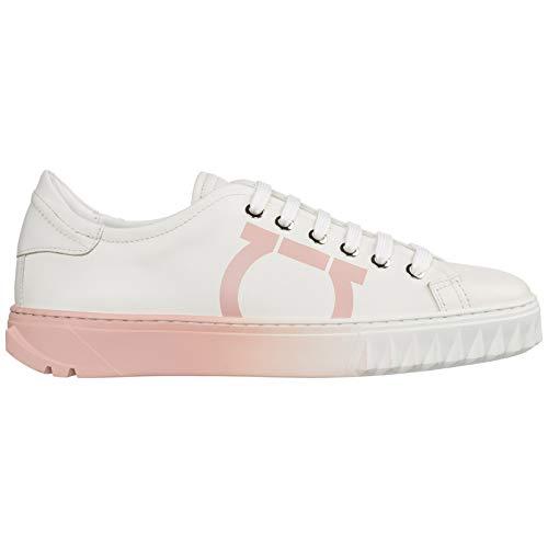 SALVATORE FERRAGAMO Damen Gancini Sneaker Bianco 36 EU