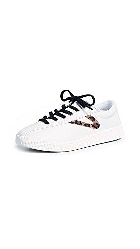 TRETORN Women's Nylite 25 Plus Lace Up Sneakers, Vintage White/Tan Multi, 9 Medium US