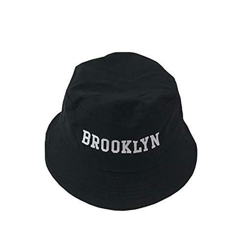 AIMICONG Sombrero Bordado Sombrero De Cubo Sombreros De Pescador Hombres Mujeres Exterior Verano Calle Hip Hop Bailarina Algodón Panamá Sombrero
