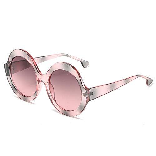 ZZOW Gafas De Sol Coloridas Redondas De Gran Tamaño A La Moda para Mujer, Gafas con Gradiente De Tendencia Vintage, Gafas De Sol Uv400 para Hombre, Tonos Rojos Y Azules