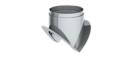 Ofenrohr - Eckwandfutter 270° mit Blende lose; 120mm Durchmesser, Edelstahl