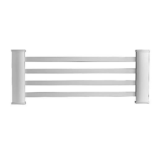 CMmin Hedendaagse Straight vloerverwarming in de badkamer handdoekradiator, IPX3 Waterdicht, gelijkmatige verwarming, ingebouwde Bescherming van de lekkage, Space Aluminium, White
