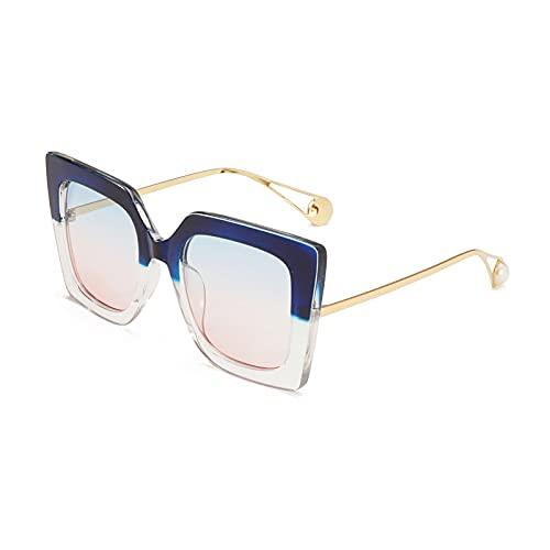 Gafas de Sol Gafas De Sol De Gran Tamaño para Mujer Y Hombre, Montura De Leopardo, Vintage Retro, Ojo De Gato, Gafas De Sol Cuadradas De Aleación, Lente Transparente para Mujer, Uv400 C4