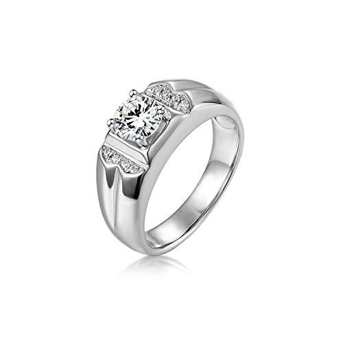 Ubestlove White Gold Ring Polish Custom Jewellery For Women Rings 4 Claws Moissanite Ring Women Q 1/2