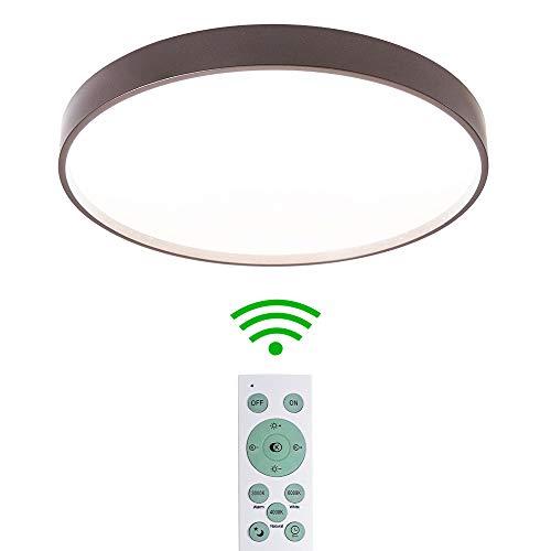 MRCOOL LED Deckenleuchte, 24W Dimmbar Deckenlampe, 3000K-6500K Deckenbeleuchtung für Küche Balkon Korridor Büro Esszimmer Bad (Braun 24W)