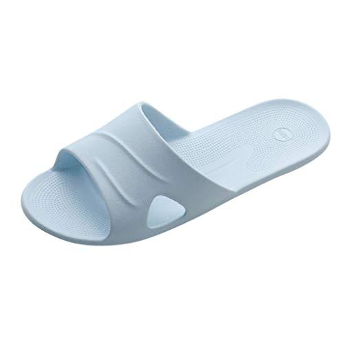 Lightweight Women/Men's Slip On Slippers Non-Slip Shower Sandals House Pool Shoes Bathroom Slide Water Shoes Blue