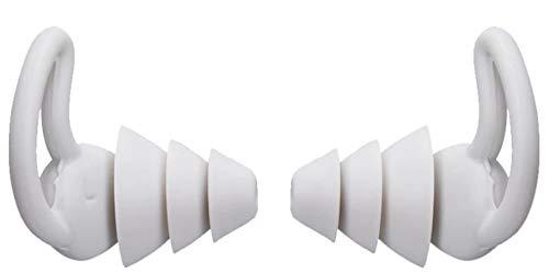 SQUATCH® | Bouchons d'Oreille pour un sommeil parfait | Réduction de bruit 35 dB | Ergonomique et Agréable à porter | Parfaite étanchéité à l'air | Lavable et réutilisable | 1 Paire couleur Gris
