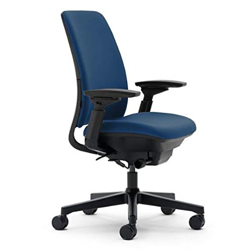 Steelcase Amia Chair, Blue Fabric - -