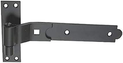 10 x CRANKED Haak & Band SHED Deurscharnieren Staal Zwart 250mm 38mm x 4.5mm