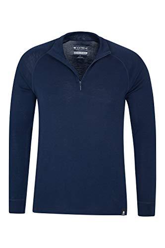 Mountain Warehouse Merino Mens Long Sleeved Thermal Baselayer Top – Breathable Jumper, Half Zip, Comfortable Sweater…
