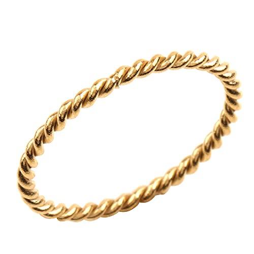 [cream dot クリームドット]リング 指輪 レディース 人気 ステンレス製 リング ピンキーリング メンズ 重ねづけ 【ゴールド×15号】