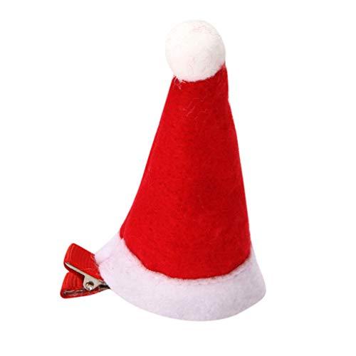BIBOKAOKE Weihnachtsmütze Haarnadel Weihnachtsmütze Haarspange Niedlicher Kopfschmuck Haarschmuck für Kinder Mädchen