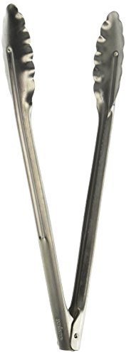 Winco Coiled Spring Extra Heavyweight Stainless Steel Utility Tong, 12-Inch