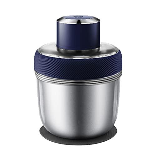 XY-M Picadora Electrica,Viene con 3 Tazones De Acero Inoxidable, Picadora De Carne De 2 Velocidades, Mini Picadora para Verduras, Frutas Y Nueces, Apta para Lavavajillas