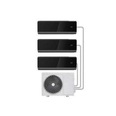 Multi-Split 27000 BTU Black SmartApp WiFi Inverter Wall Air Conditioner with 3X 9000 BTU Indoor Units to a Single Outdoor Unit