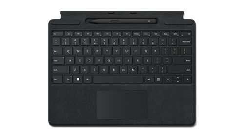 Microsoft Surface Pro Signature Keyboard im Bundle mit schwarzem Slim Pen 2 Schwarz (QWERTZ Keyboard)