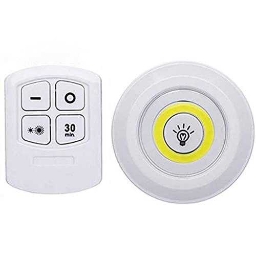 AnXiongStore Control Remoto táctil inalámbrico LED Luz Blanca Luces de Armario de cabecera Gabinete Decorativo Focos duraderos
