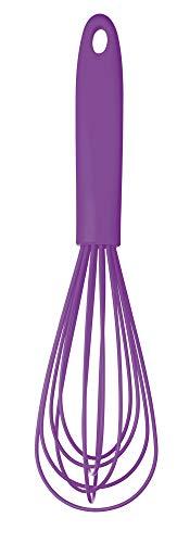 Colourworks KitchenCraft Silicone Balloon Whisk, 26 cm - Purple